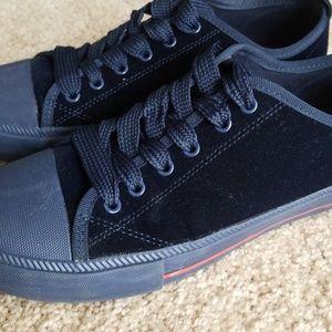 19babc7d854ef Tommy Hilfiger Shoes - Tommy Hilfiger Navy Blue Velvet Sneakers Size 8